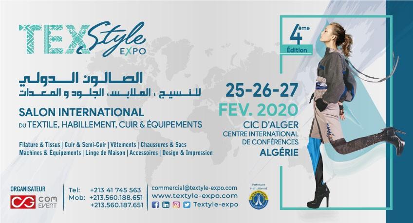 «Texstyle-Expo» le salon international du textile, du cuir, de l'habillement et des équipements du 25 au 27 Février 2020 au CCI - Alger