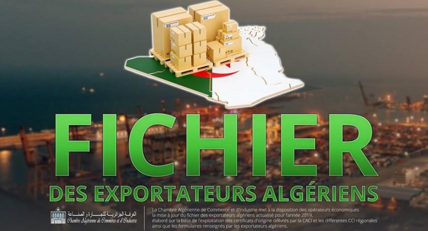 Ficher des exportateurs Algériens  - 2019 -  قائمة المصدرين الجزائريين